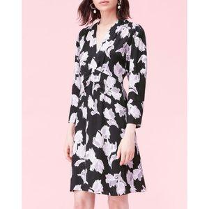 Rebecca Taylor Ikat Blossom V Neck Dress